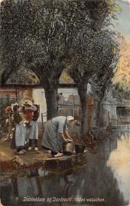 Netherlands Dubbeldam bij Dordrecht Vaten wasschen
