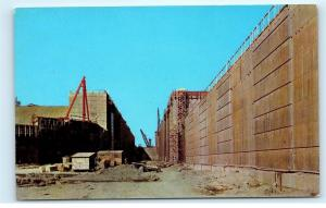 *St. Lawrence River Seaway Power Project Eisenhower Lock Under Construction A21
