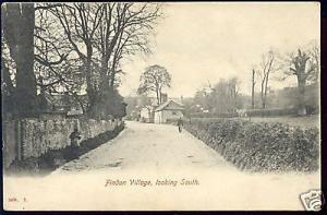 sussex, FINDON VILLAGE nr Worthing, Street Scene (1910)