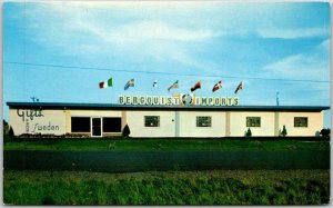 Cloquet, Minnesota Postcard BERGQUIST'S IMPORTS Swedish & Norwegian Gifts c1960s