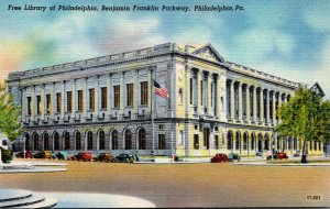 Pennsylvania Philadelphia Free Library On Benjamin Franklin Parkway