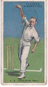 Cigarette Cards Player's Cricketers 1930 No 14 - A P Freeman