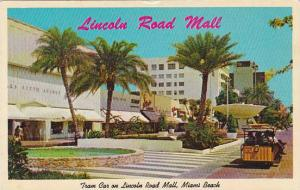 Florida Miami Beach Tram Cars Mark Scheduled Trips Up And Down The New Lincol...