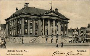 CPA GRONINGEN Stadhuis Groote Markt NETHERLANDS (604320)