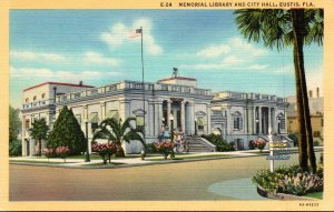 Florida Eustis Memorial Library and City Hall Curteich