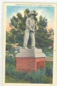 Cowboy Statue On Boot Hill, Dodge City, Kansas, 1930-1940s