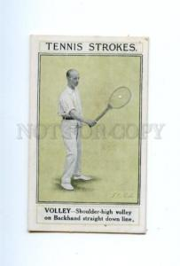 166948 TENNIS Volley Shoulder-high on Backhand by PARKE old