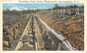 Military Camps Post Card Camp Wadsworth Spartanburg, South Carolina, USA Unused