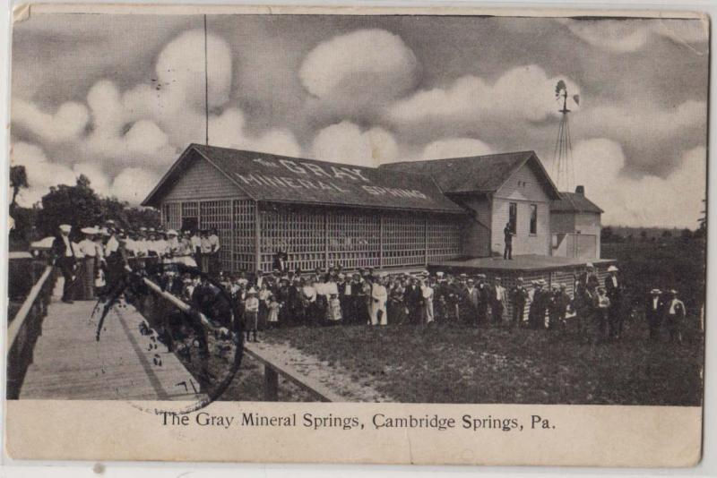 Gray Mineral Springs, Cambridge Springs PA