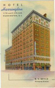 Linen of Hotel Harrington 11th & E. Sts. Washington DC