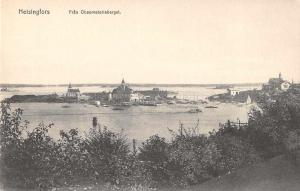 Heisingforgs Helsinki Finland Birds Eye View Antique Postcard J65516