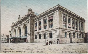 ALBANY NY - UNION RAILROAD STATION / 1907 - now OFFICES / Boston & Maine RR