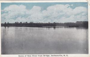 New River from Bridge, JACKSONVILLE, North Carolina, PU-1925
