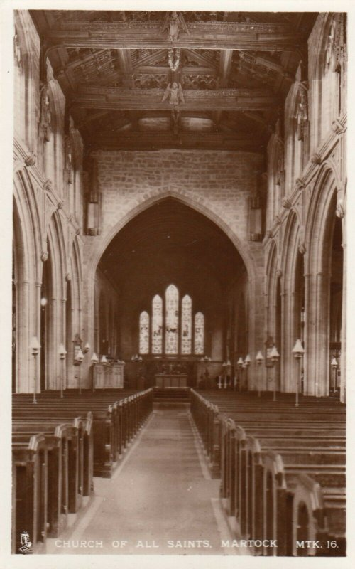 RP; MARTOCK , England, UK, 1940s; Church of all Saints, Interior, TUCK