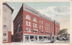 New Hampshire Laconia Masonic Temple 1921