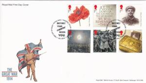 The Great War 1914 Your Country Needs You Stamp Frank First Day Cover