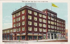 Illinois La Salle Hotel Kaskaskia Curteich