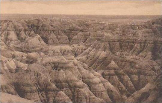 South Dakota  Wall Big Foot Pass Badlands National Monument Albertype