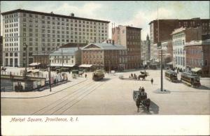 Providence RI Market Square #2 c1910 Postcard