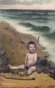 Companions Young Naked Boy With Dog