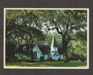 Christ Church Post Card Historic Building Chapel St. Simons Island, Georgia