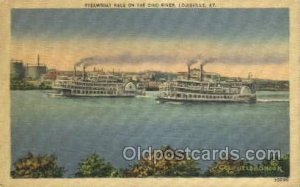 Ohio River Ferry Boats, Ferries, Steamboat, Ship Louisville, Kentucky, USA Wr...