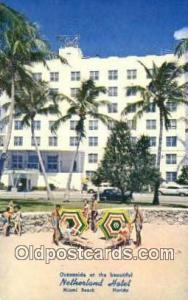 Netherland Hotel, Miami Beach, FL, USA Motel Hotel Postcard Post Card Old Vin...