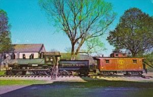 Old Steam Engine & Caboose At White River Junction Vermont