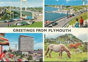 Devon Postcard - Greetings From Plymouth - Ref TZ2327