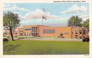 Dyersburg Tennessee~Senior High School~Art Deco Architecture~1941 Linen Postcard