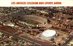 California Los Angeles Aerial VIew Of Coliseum and Sports Arena Stadium