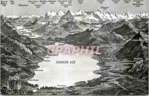 Modern Postcard Thun See Interlaken Spiez