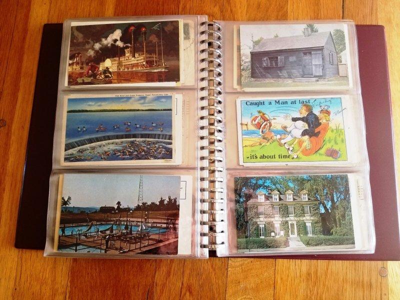 180 Vintage Post Cards in Post Card Album #2