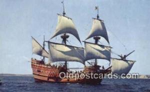 The Mayflower II, Plymouth, Massachusetts, MA USA Sail Boat Postcard Post Car...