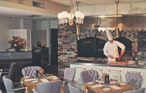 Chef Preparing Food, Dining Room, The Biltmore Motor Hotel, Vancouver, Britis...