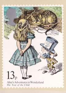 Alice's Adventures In Wonderland Book Limited Edition PHQ Postcard