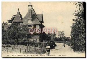 Old Postcard Route Honfleur Trouville Entree Villerville