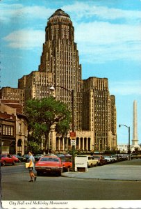 New York Buffalo City Hall and McKinley Monument