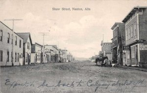 Nanton Alta Canada Shaw Street Surgeon Office Vintage Postcard JI657923
