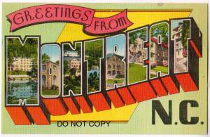 Large Letter, MONTREAT NC
