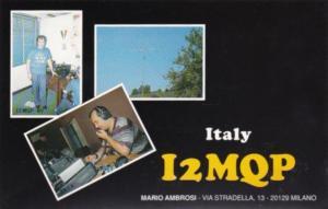 Amateur Radio I2MQP Mario Ambrosi Milano Italy