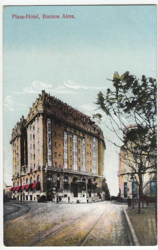 Argentina; Plaza Hotel, Buenos Aires PPC By Carmelo Ibarra, Unposted, c 1910's