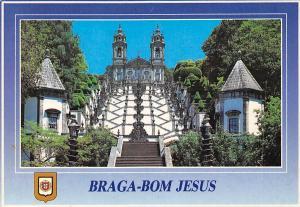 Portugal Braga Bom Jesus, Templo e Escadorio Temple and Staircase