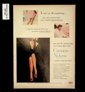 1953 Cannon Nylons Women's Underwear Print Vintage Ad 015742