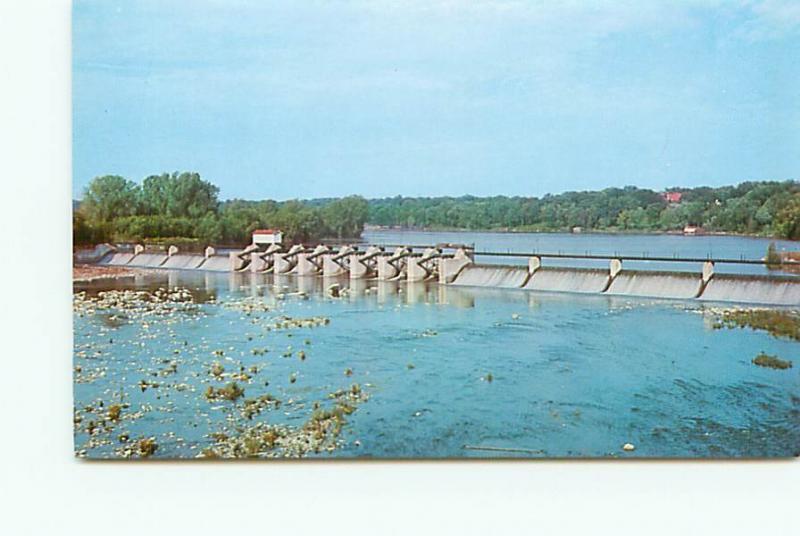 Postcard Wisconsin Kaukauna  Fox River Dam   Free Shipping # 2615A