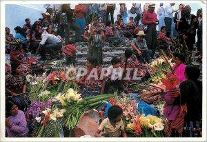 Postcard Old Mercado Chichicastenango Guatemala
