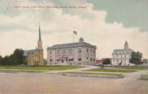 Oregon Salem Court House Post Office & Methodist Church sk4106