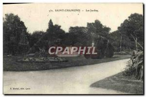 Old Postcard Saint Chamond Gardens