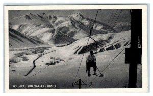 SUN VALLEY, Idaho ID ~ Skier SKI LIFT ca 1920s-30s  Postcard