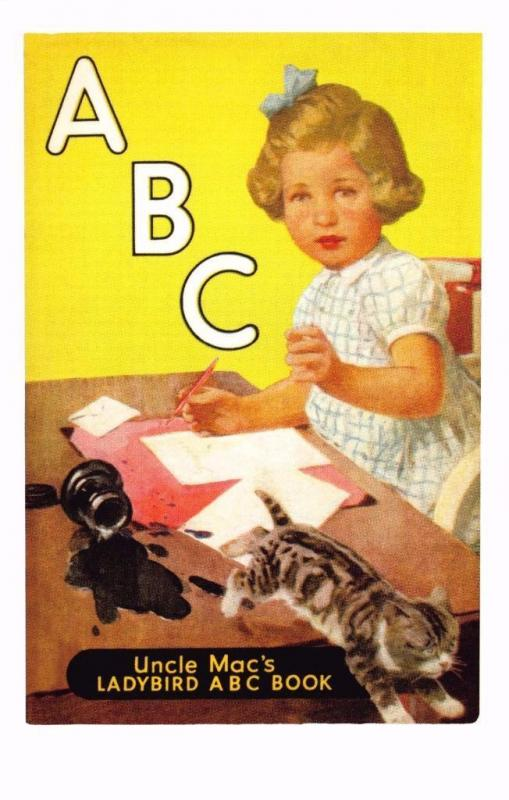 Postcard Uncle Mac's ABC Book (1950) Series 455 Ladybird Book Cover